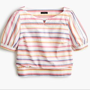 J.crew tall cropped cinched waist top